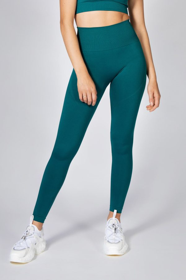 Seamless High-Waist Legging in Emerald