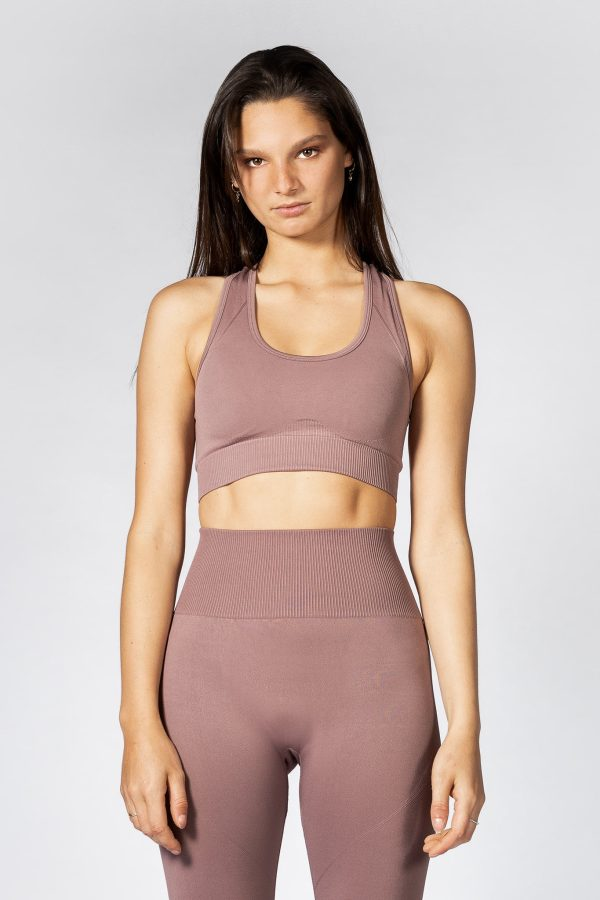 Push Up Seamless Sports Bra in Champagne