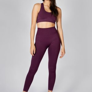 Push Up Seamless Sports Bra in Grape