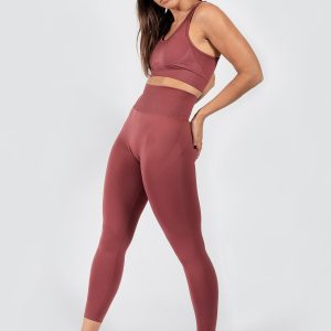 Push Up Seamless Sports Bra in Rouge Pink