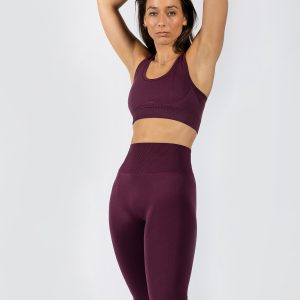 Muki women's yoga set in grape colour