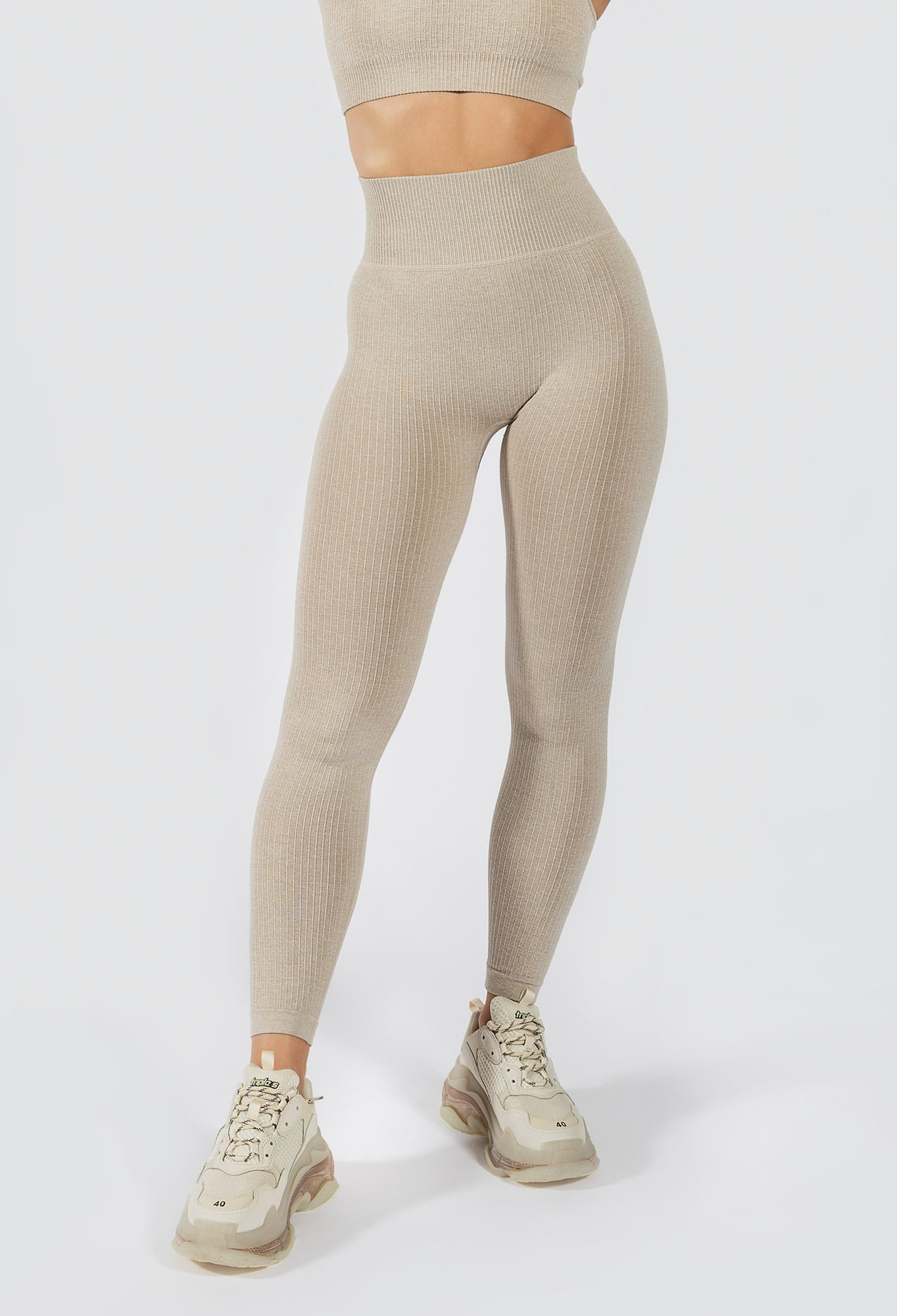 Muki women's seamless legging in beige