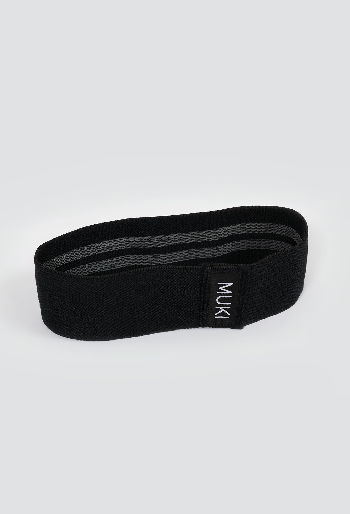 black fabric resistance band in low strength by Muki