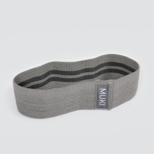 Medium Fabric Resistance Band in Grey