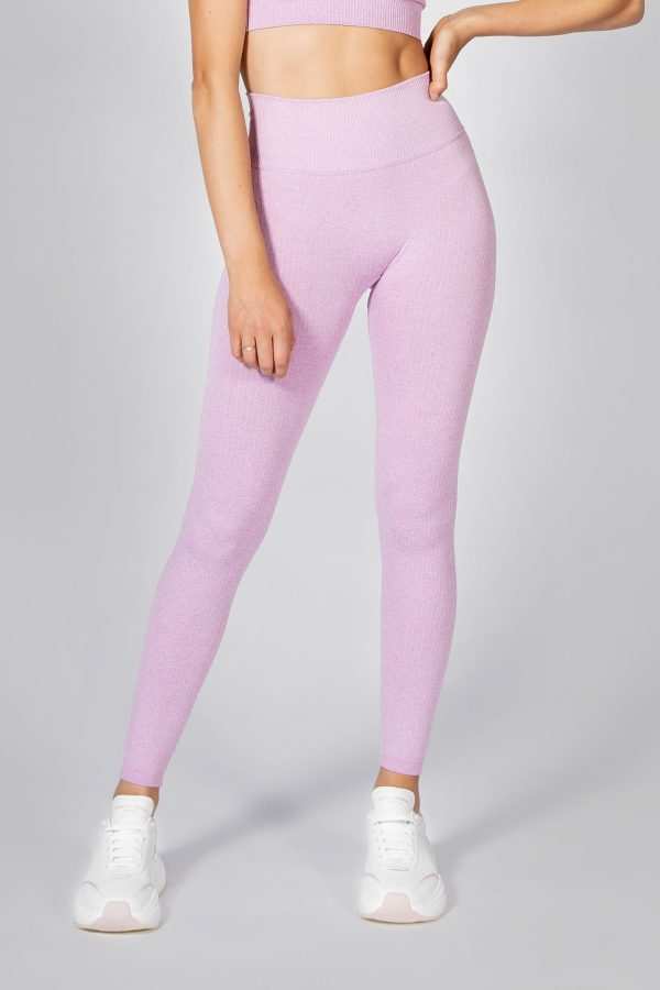 Seamless Ribbed Legging in Lilac