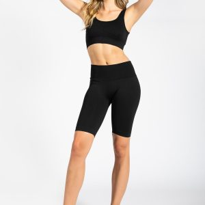 Seamless Ribbed Gym Short in Black (PRE-ORDER)