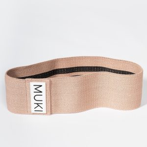 Three Pack Fabric Resistance Bands in Rose Gold