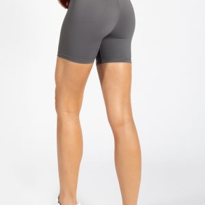 muki high-waist biker short in grey