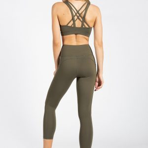 Soft Touch Sports Bra in Olive Green