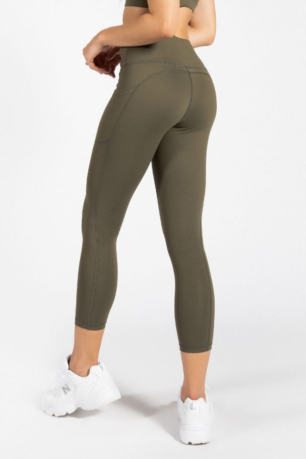 Soft Touch Legging in Olive Green