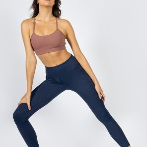 sculpting high-waisted yoga pant in dark navy