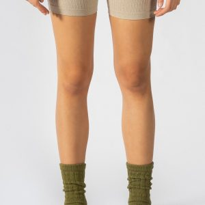 Slouchy Sock in Olive Green
