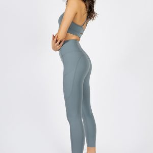 soft touch yoga pants in light blue