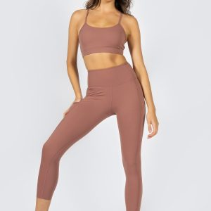 Soft Touch Sports Bra in Dusty Rose