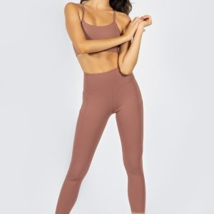 Soft Touch Yoga Set in Dusty Rose